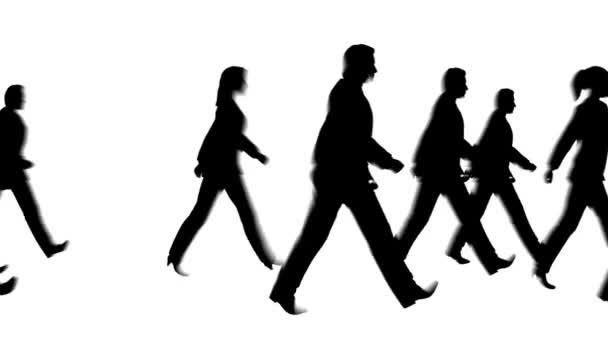 chodící silueta chodce