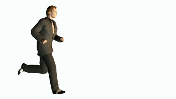 Üzletember futó hurok varrat nélküli