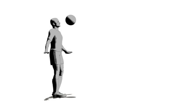 Soccer player with ball by stemnode