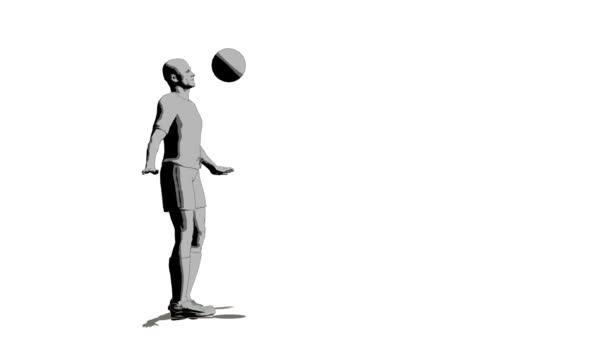 Futball játékos a labdát a stemnode
