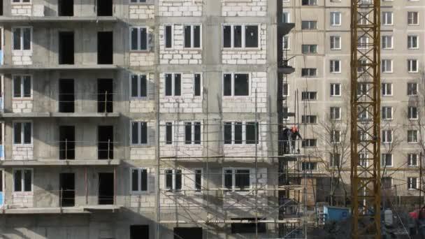 dům, budova, stavitelé stavět lešení