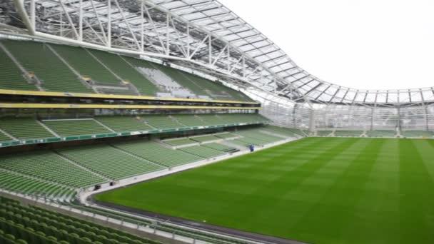 Prázdný stadion aviva v Dublinu, Irsko.