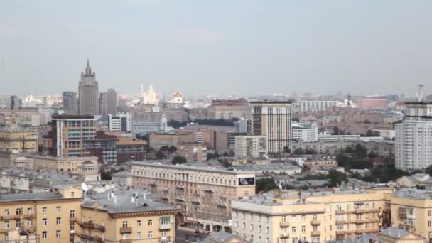 Panning of Moscow, river and International Business Center
