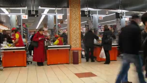 Check-out area in shopping and entertainment center Semenovskiy