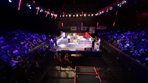 Boxing match is in hall BARVIKHA LUXURY VILLAGE, wide angle