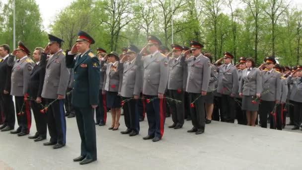 úředníci ministerstva vnitřních věcí provést ceremonii pokládání věnec