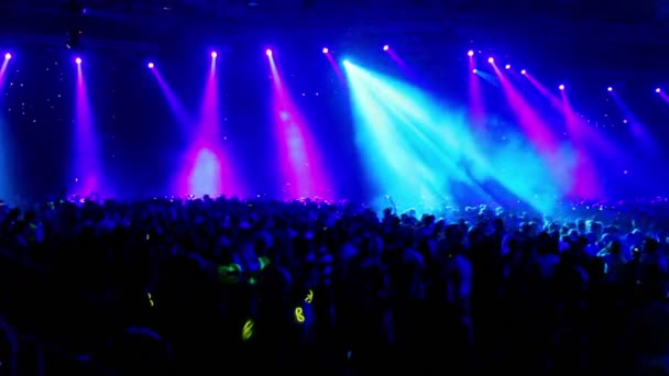 Crowd at rave party