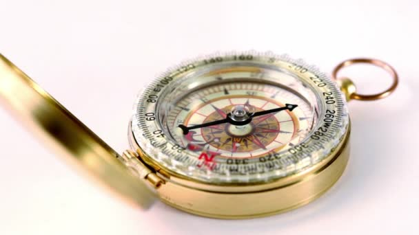 Golden vintage compass circling