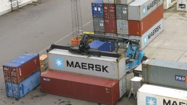 zavaděč vozidlo zásobníku kontejnery v bergen, Norsko