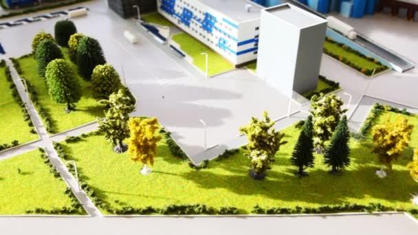 Maquette výsadba oblast mléčných továrny na stole