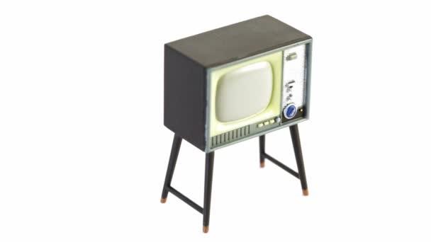 hračky televizní přijímač krouží izolované