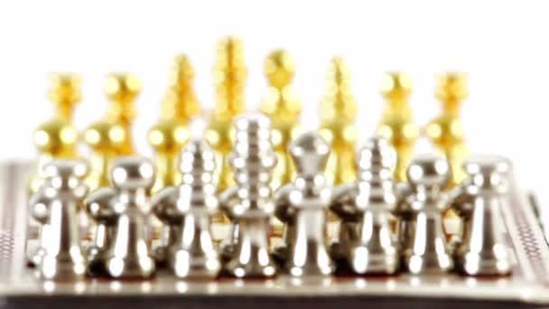 Kis arany és ezüst Sakk számok-a kezdő pozíció