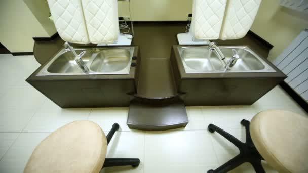 v kosmetologii prostor pro pedikúru v salonu krásy jsou zvláštní sedadla