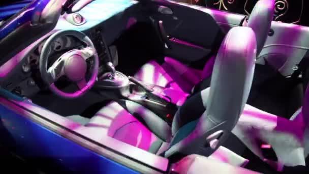 automobilové srub v barevné osvětlení