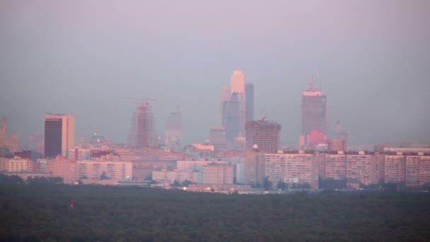 panoráma nedokončený město mrakodrapů Moskva komplexní