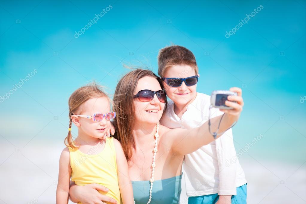 Family taking self portrait