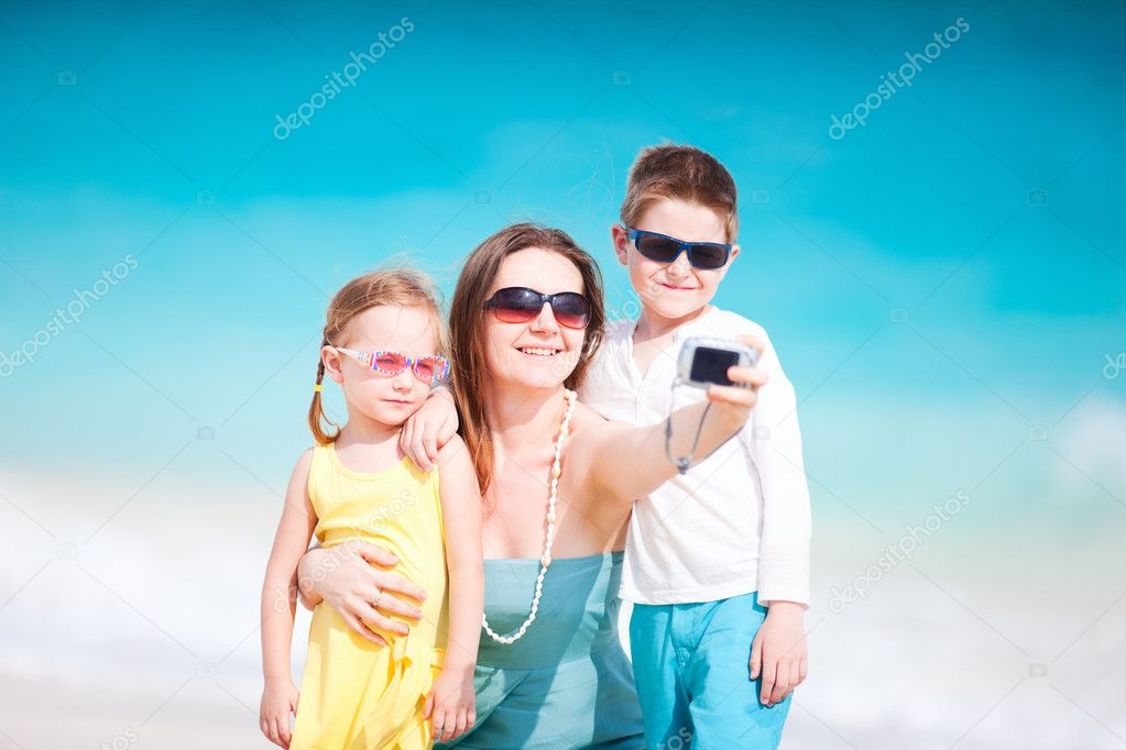 Family taking self portrait
