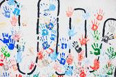 barevné ruka tiskne