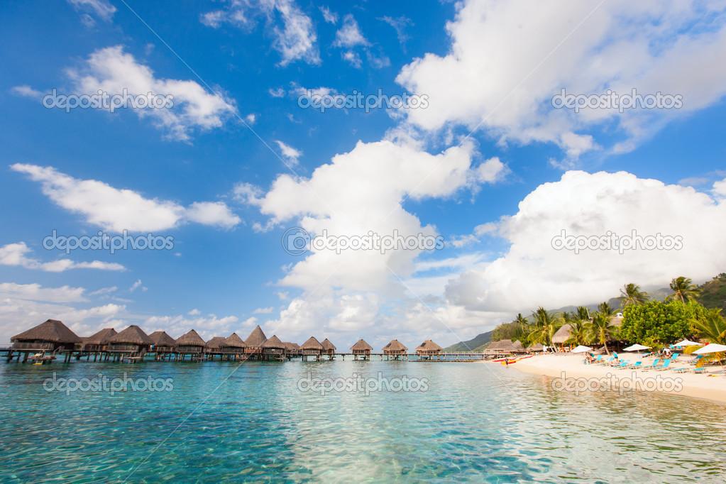 Tropical beach on Moorea island