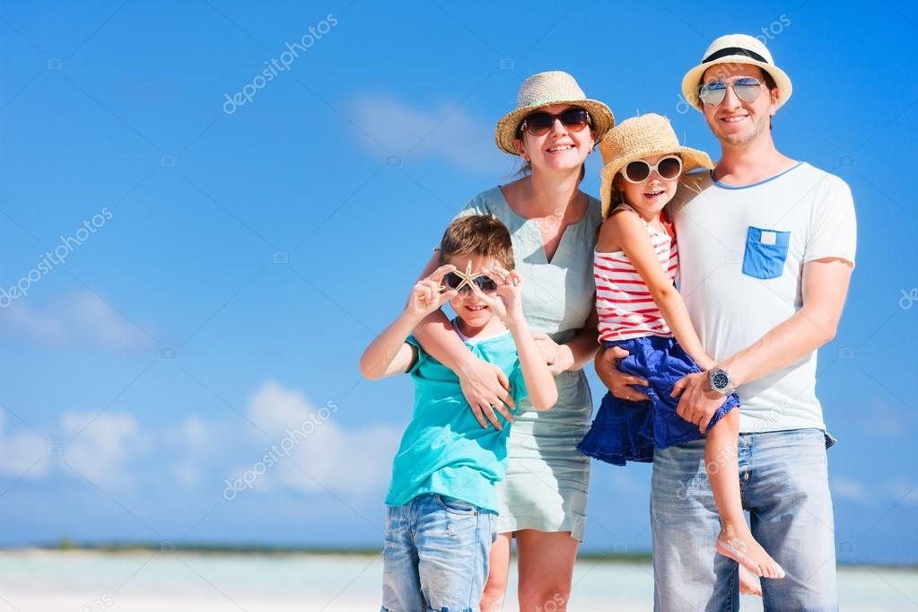 Family vacation portrait