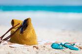 dovolenou na pláži zblízka