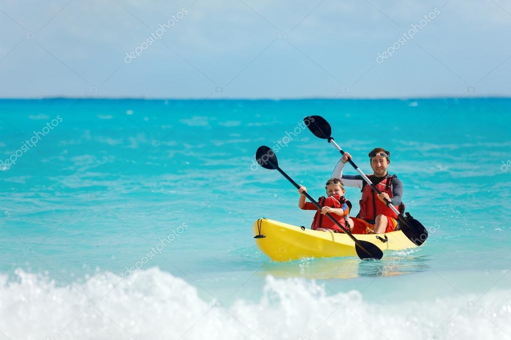 Kayak padre e figlio