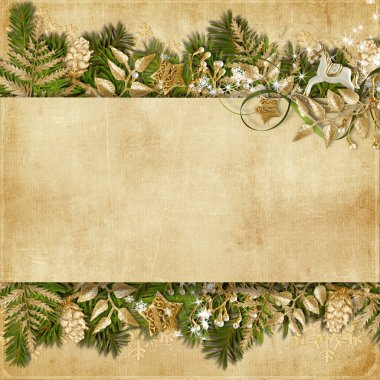 Christmas card with miraculous garland