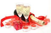Fotografie Champagner und rose