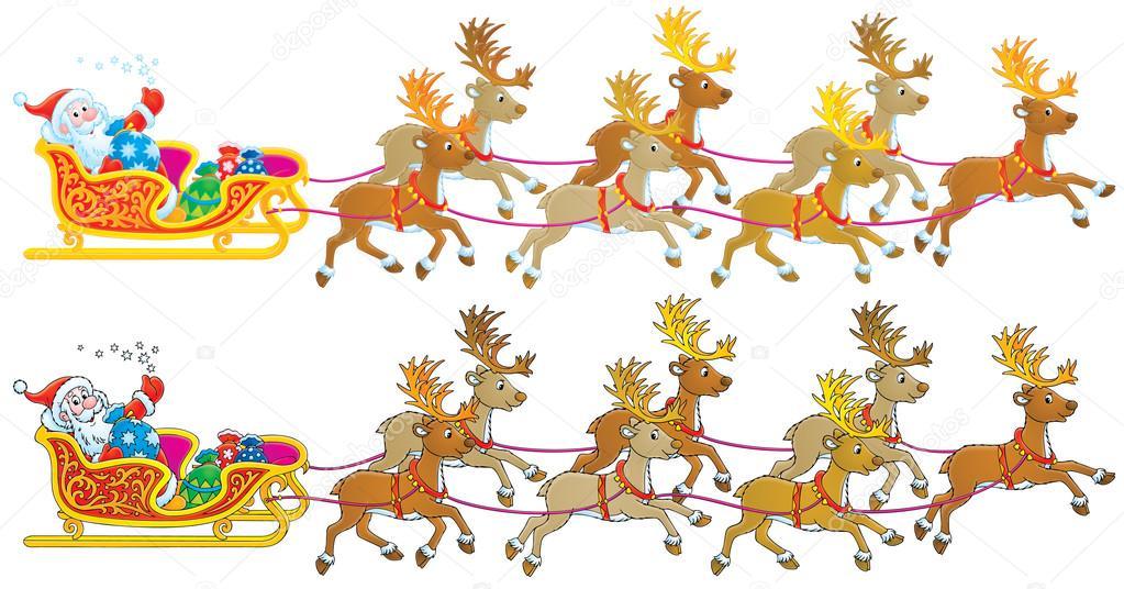 Weihnachtsmann Schlitten Stockfoto Alexbannykh 13614185