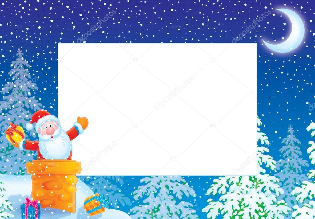Weihnachten-Grenze mit Santa claus — Stockfoto © AlexBannykh #15846727