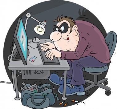 Hacker using a stolen credit card