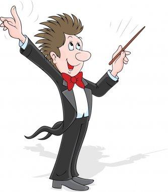 Happy music conductor