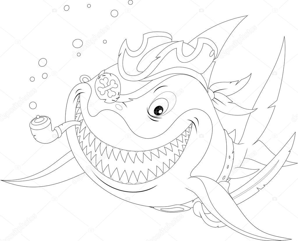 im u00e1genes  del tiburon duende para colorear