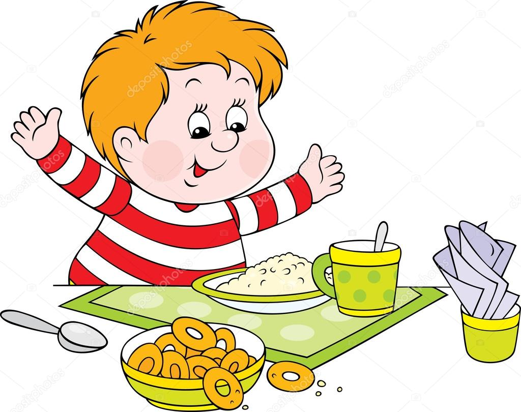 ne u015feli  u00e7ocuk yemek masas u0131nda  u015fi u015fman yanaklar u0131 stok cereal bowl clipart cereal pictures clip art