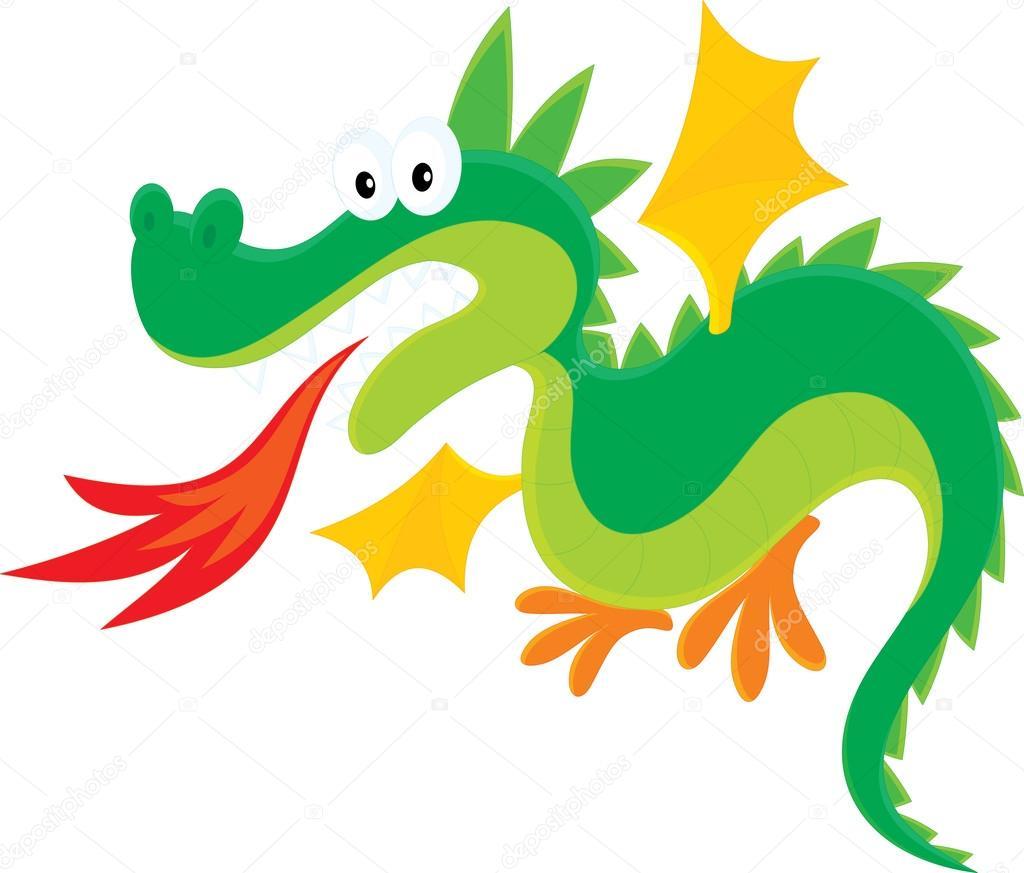 fire breathing dragon stock vector alexbannykh 30854419 rh depositphotos com