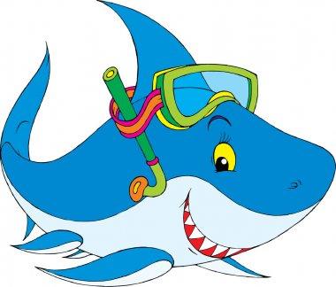 cute snorkel shark