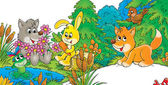 zvířata u rybníka
