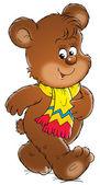 Roztomilý medvěd hnědý šátek