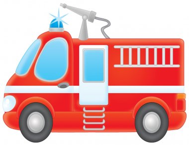 airbrushed red fire engine