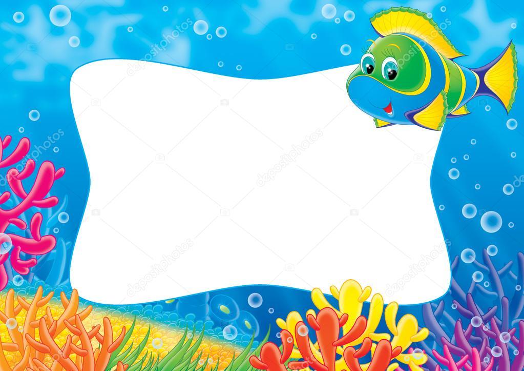 Incre ble marco de peces bandera ideas personalizadas de for Fish photo frame