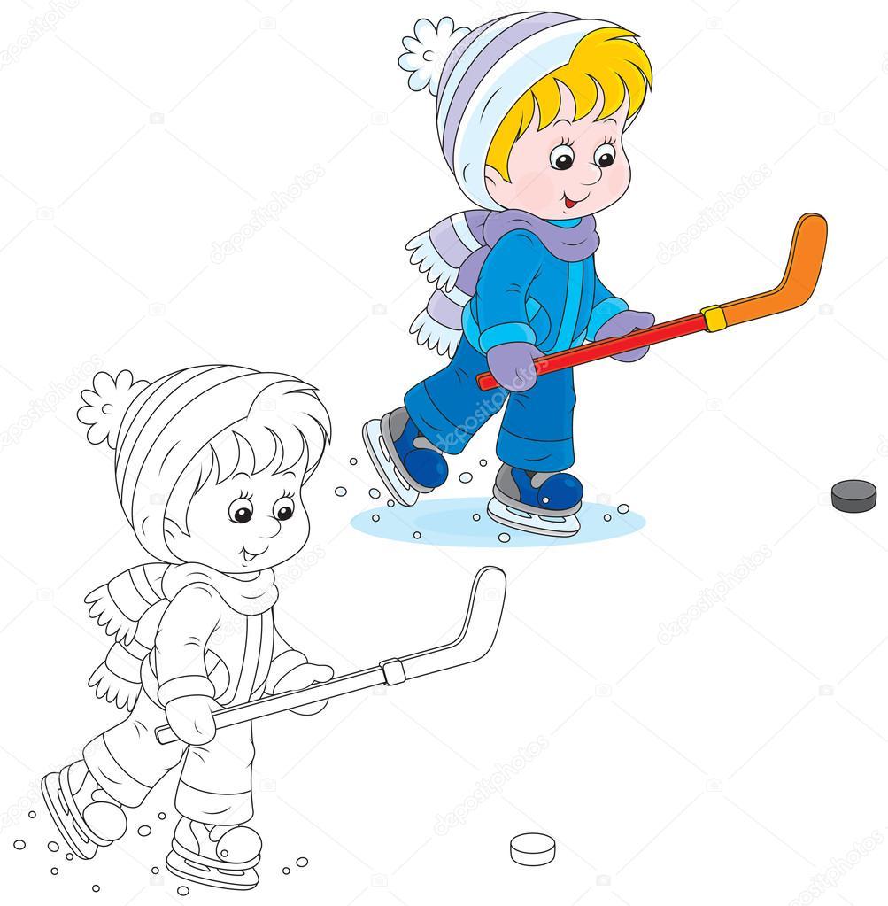 un jugador de hockey — Vector de stock © AlexBannykh #37849265