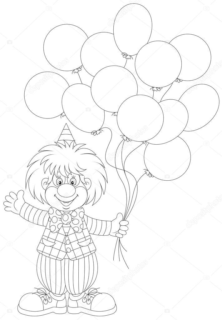 Palyaço Balon Ile Stok Vektör Alexbannykh 40445807