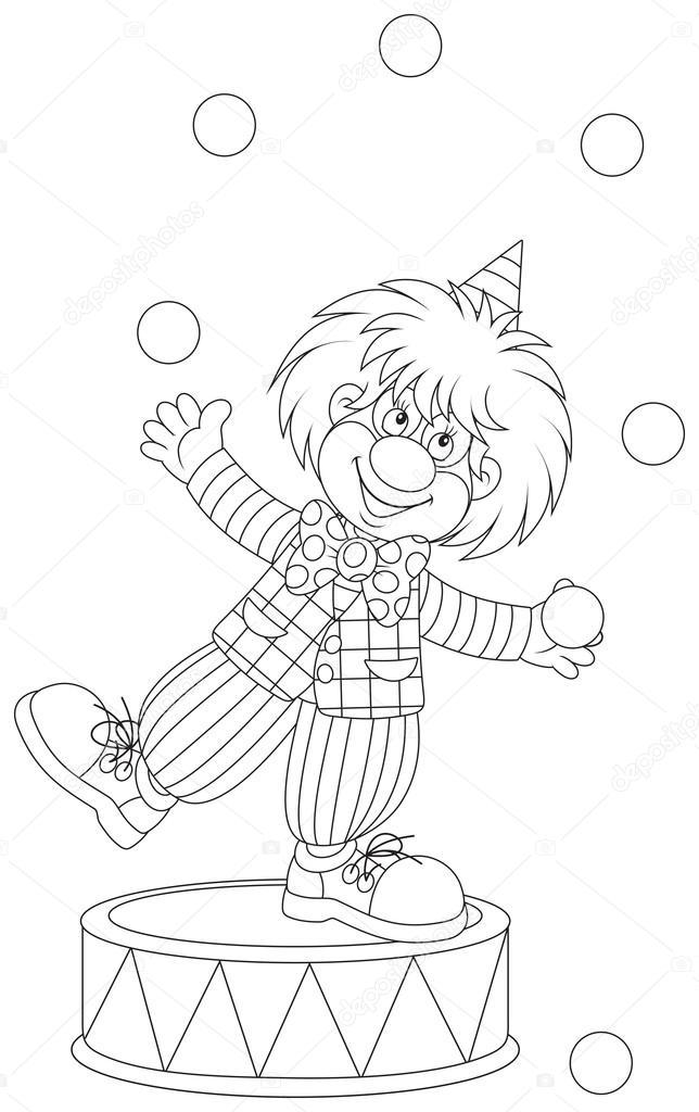 zirkus ausmalbilder jongleur  ausmalbilder