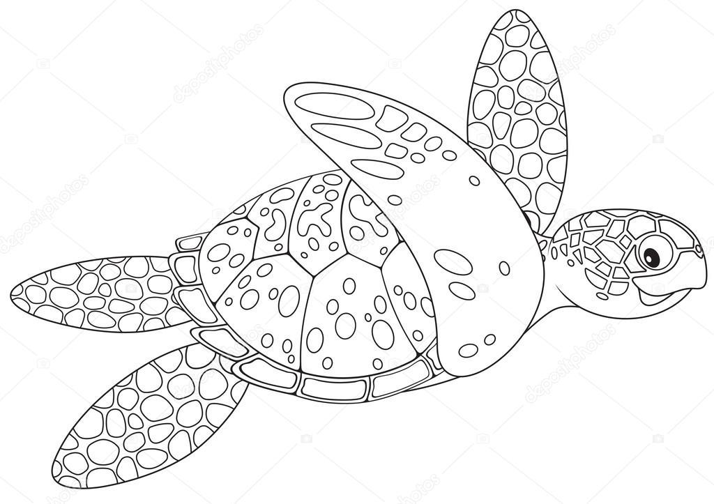 tortugas marinas — Archivo Imágenes Vectoriales © AlexBannykh #40615907