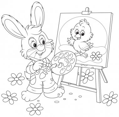 Easter Bunny drawing