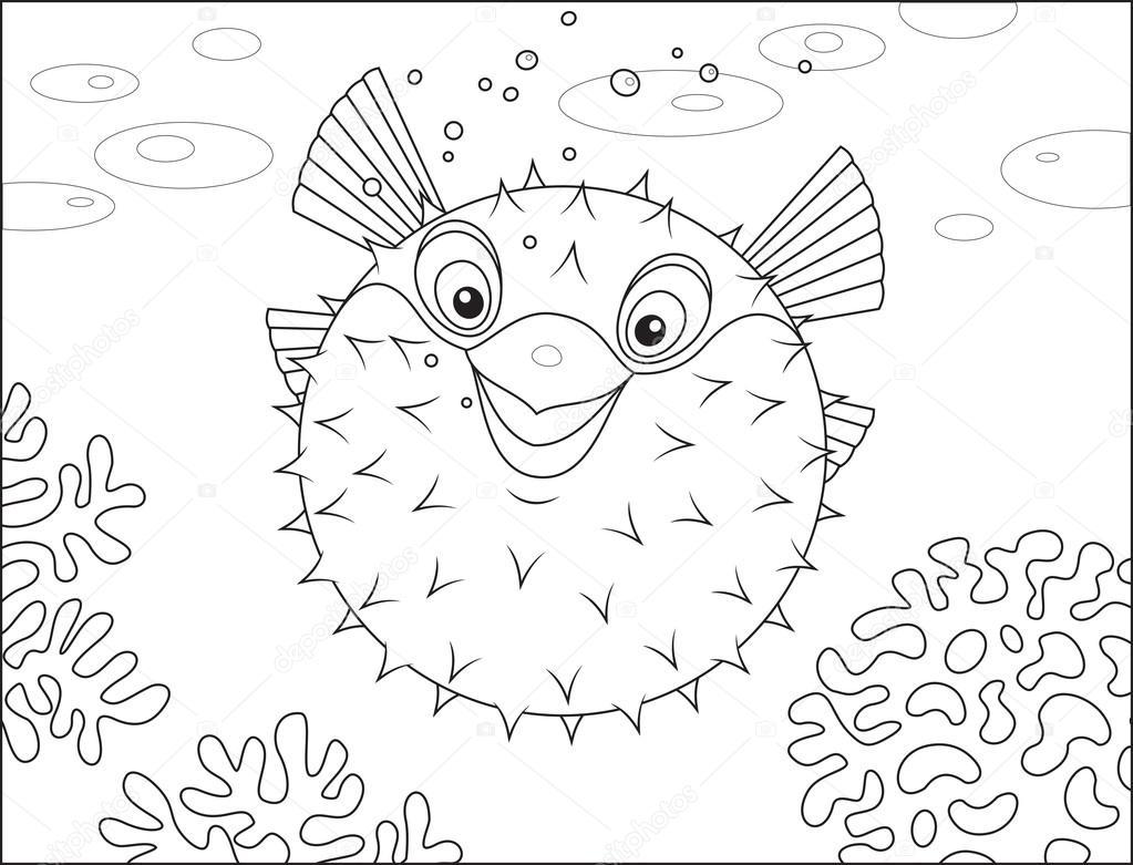 pez globo — Vector de stock © AlexBannykh #45708519