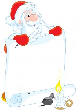 Santa Claus with a scroll