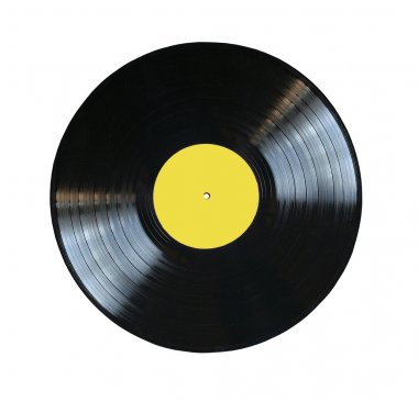 Old vinyl record isolated