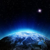 mraky atmosféra z vesmíru