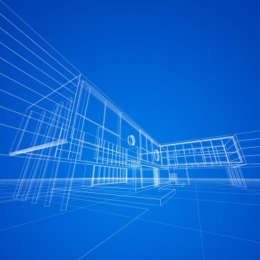 Blueprint on blue